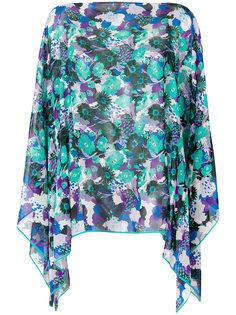 блузка-накидка с принтом Emanuel Ungaro