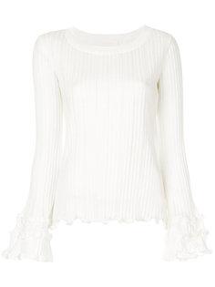 трикотажный свитер с оборками  See By Chloé