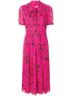 платье с завязкой на шее и принтом Doodle Burberry