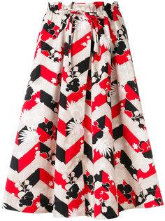 юбка А-образного силуэта с принтом Maison Kitsuné