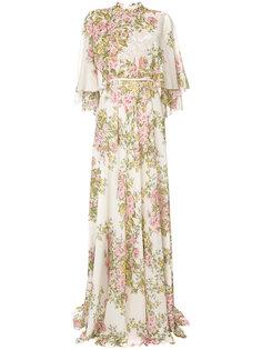 платье-макси с цветочным принтом Giambattista Valli