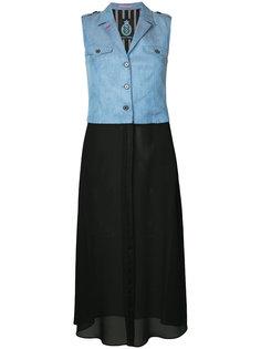 платье без рукавов с контрастными панелями Guild Prime