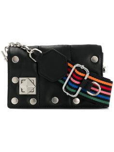 сумка с разноцветным ремнем и откидным клапаном Sonia Rykiel