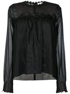 блузка с цветочной вышивкой  Sonia Rykiel