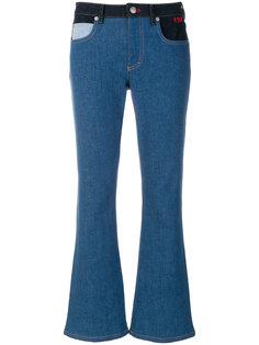 расклешенные джинсы с контрастными деталями Sonia Rykiel