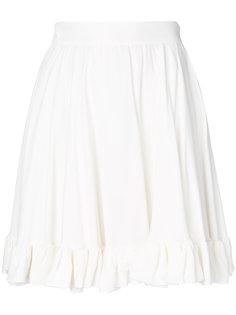 юбка с оборкой и завышенной талией  MSGM