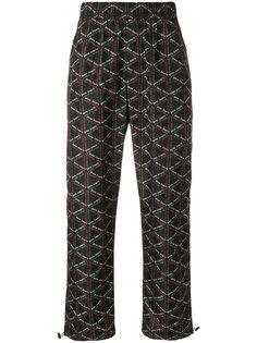 спортивные брюки с монограмным принтом Palm Angels