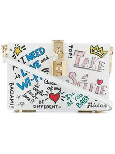 клатч-футляр с графическим принтом Dolce & Gabbana