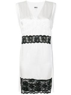 платье с кружевной отделкой Mm6 Maison Margiela