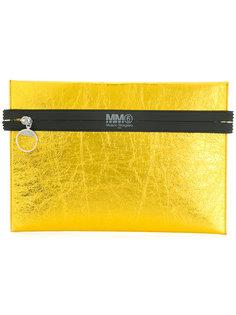 клатч с контрастной окантовкой Mm6 Maison Margiela