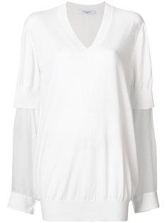 свитер с прозрачными рукавами Givenchy