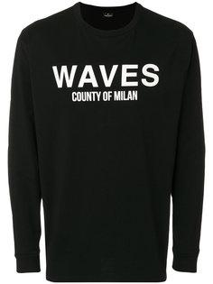 толстовка с принтом Waves Marcelo Burlon County Of Milan