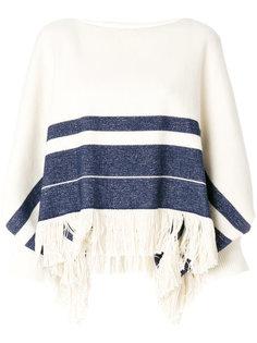 свитер с бахромой и объемными рукавами  Chloé