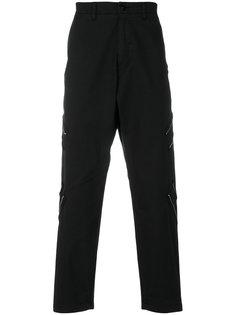 брюки с декоративными молниями Stone Island Shadow Project