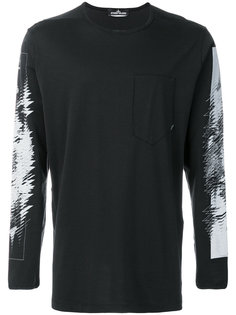 graphic print long sleeve top Stone Island Shadow Project