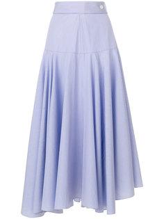 асимметричная юбка с оборкой  Loewe