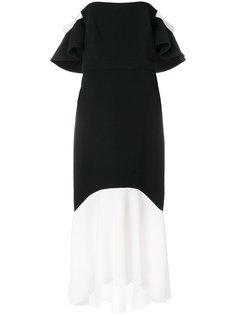 расклешенное платье с открытыми плечами с контрастным дизайном Rachel Zoe
