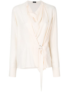 блузка с драпировкой Joseph