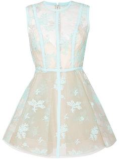 сетчатое платье с цветочным узором  Alex Perry