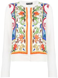 кардиган с принтом Majolica Dolce & Gabbana