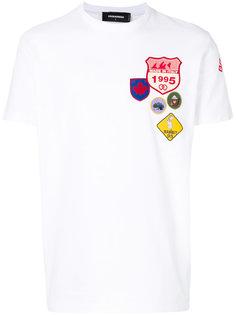 футболка с нашивками Dsquared2