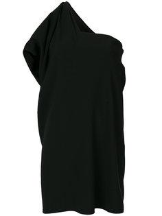 платье на одно плечо с драпировкой  Paule Ka