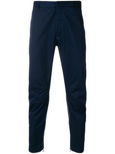 байкерские брюки с присборенной отделкой Lanvin