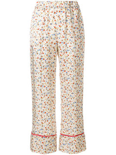 wide leg floral trousers Semicouture