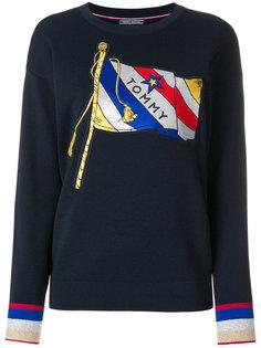 свитер с принтом флага Tommy Hilfiger