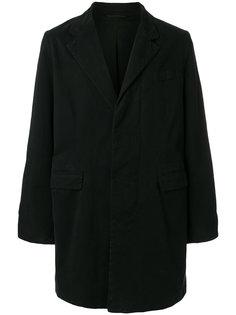 однобортное пальто Ann Demeulemeester Grise