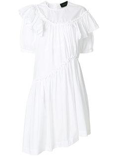 платье-рубашка с оборкой  Simone Rocha