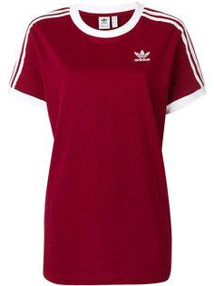 футболка с контрастными полосками Adidas