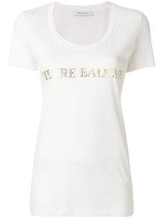 футболка с логотипом Pierre Balmain