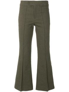 расклешенные укороченные брюки Isabel Marant