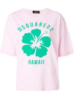 футболка с цветочным принтом Hawaiian Dsquared2