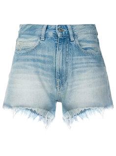 джинсовые шорты с цветочным принтом Marcelo Burlon County Of Milan