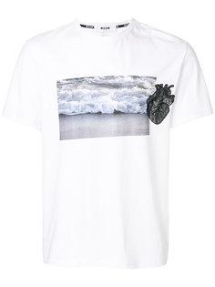 футболка с фото-принтом MSGM