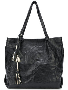 текстурированная сумка-тоут с кисточками Henry Beguelin