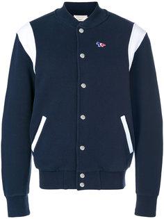 куртка-бомбер на кнопках Maison Kitsuné