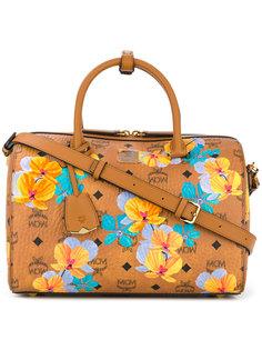 сумка-тоут с цветочным принтом MCM