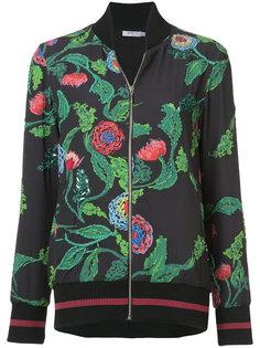 куртка-бомбер с блестящим тропическим декором Patbo