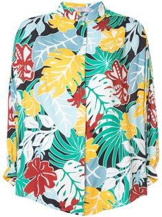 рубашка с тропическим рисунком Patbo