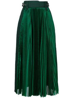 плиссированная юбка миди  Sacai