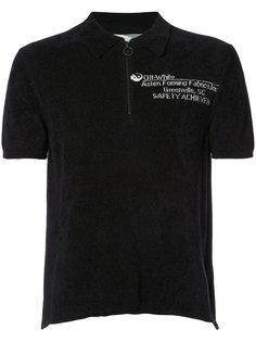 рубашка-поло с молнией спереди Off-White