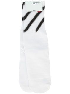 носки с принтом Diagonals Off-White