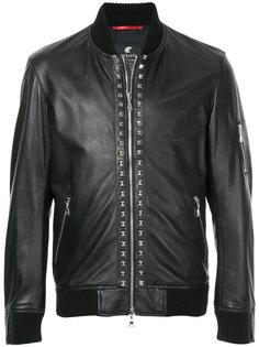 байкерская куртка на молнии с заклепками Loveless