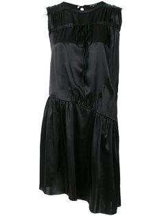 асимметричное платье с приспущенной талией Ann Demeulemeester