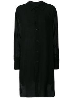 прозрачная рубашка в стиле оверсайз Ann Demeulemeester