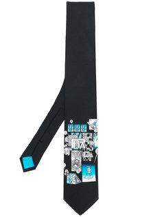 галстук с графическим принтом Prada