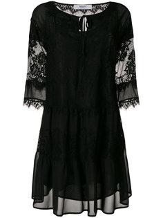 платье с кружевными вставками  Blugirl